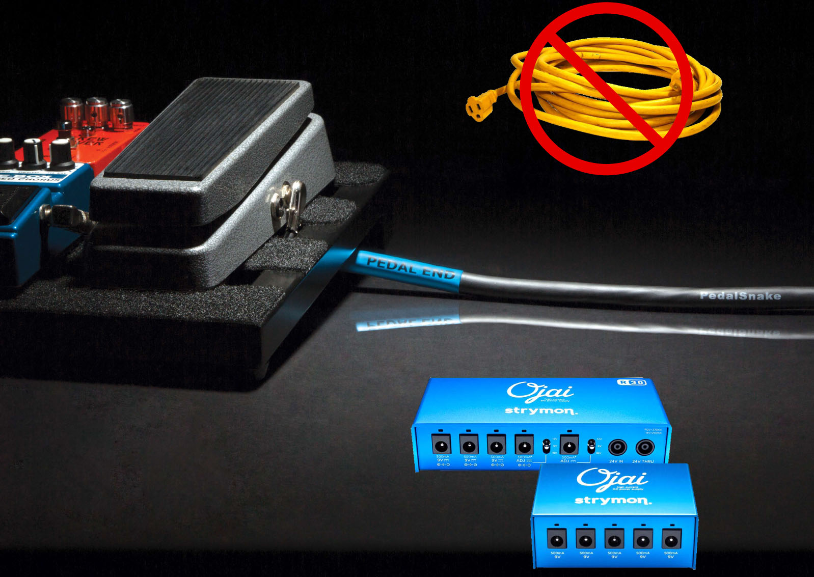 Pedalsnake Accessories Ac Power Cord Wiring The Easiest Quietest Smartest Way To Pedals With No